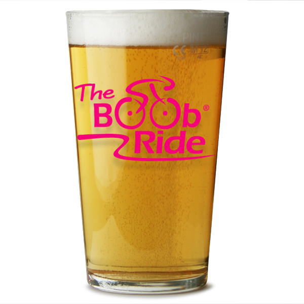 Boob Ride Beer Glass